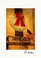 Wall Street New York Stock Exchange Personalized Christmas Cards