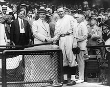Walter Johnson & President Calvin Coolidge Photo Print for Sale