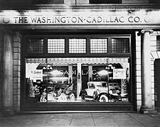 Washington Cadillac Co. Window & Cars 1927 Photo Print for Sale