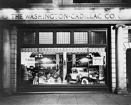 Washington Cadillac Co. Window & Cars 1927 Photo Print