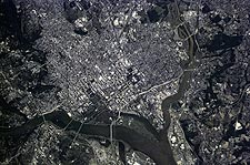 Washington D.C. Aerial Satellite Photo Print for Sale