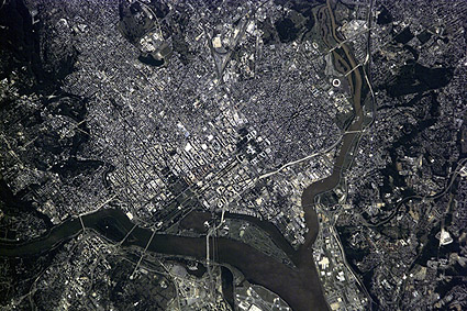 Washington D.C. Aerial Satellite Photo Print