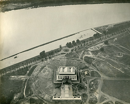 Washington D.C. Lincoln Memorial Aerial View  Photo Print