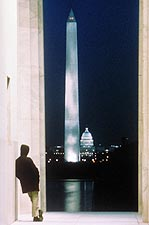 Washington Monument at Night Washington DC Photo Print for Sale