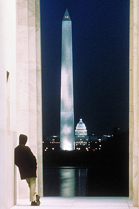 Washington Monument at Night Washington DC Photo Print