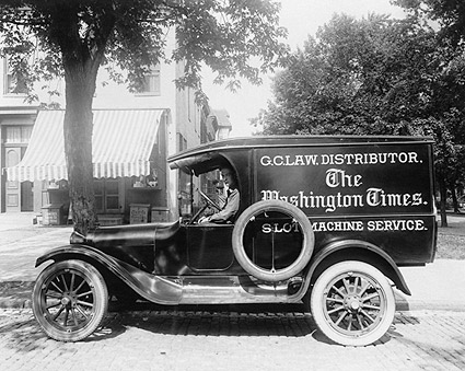 Washington Times Newspaper Truck 1920s Photo Print