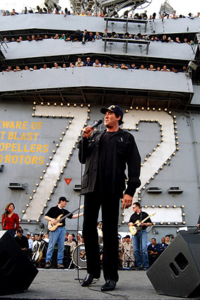 Wayne Newton Aboard USS Abraham Lincoln Photo Print
