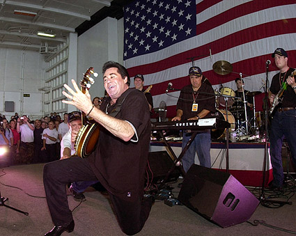 Wayne Newton Entertains Troops Patriotic Photo Print