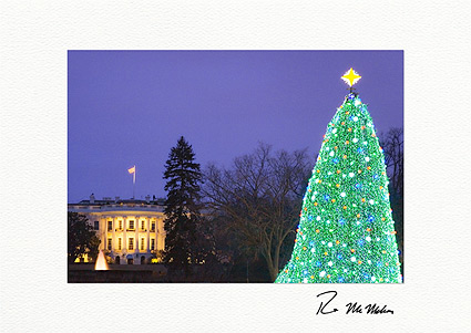 White House Washington D.C. Personalized Christmas Cards