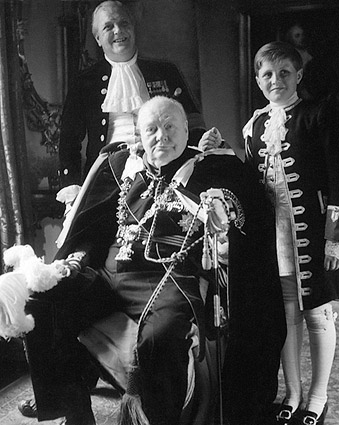 Winston Churchill & Family Coronation Robes Photo Print