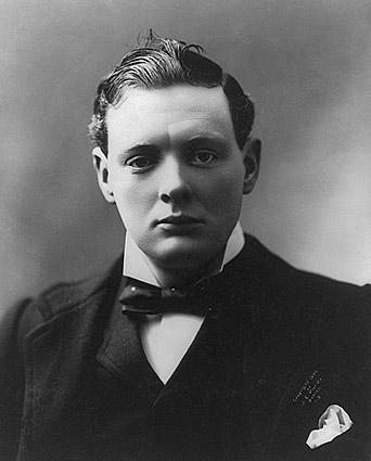 Winston Churchill Young Portrait Photo Print
