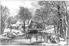Currier & Ives 'Winter Pastime' Photo Print for Sale