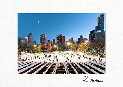 Wollman Rink Ice Skating at Night NYC Boxed Christmas Cards