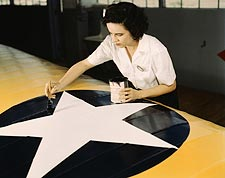 Woman Painting Naval Aircraft Insignia WWII  Photo Print for Sale