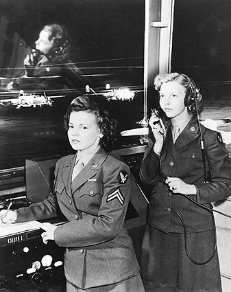 Women's Army Corps in Control Tower Photo Print