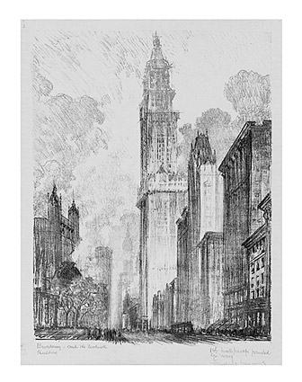 Woolworth Building Drawing New York City Photo Print