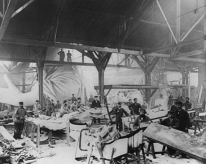 Workmen Constructing Statue of Liberty in Paris 1882 Photo Print