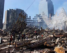 World Trade Center Ruins 9/11 Photo Print for Sale