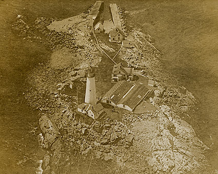 WWI Aerial View Unidentified Lighthouse  Photo Print