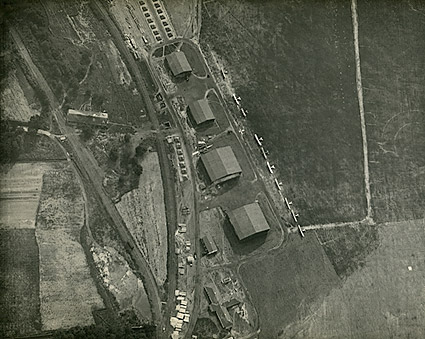 WWI Airfield View from Observation Balloon Photo Print