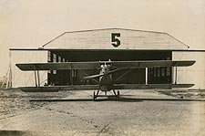 WWI Biplane and Hangar Photo Print for Sale