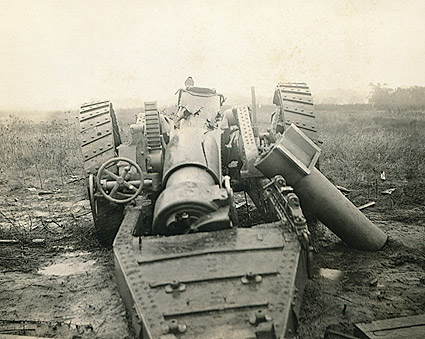 WWI Cannon Destroyed Photo Print