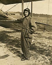 WWI Fighter Pilot with Biplane Photo Print for Sale