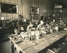 WWI Machine Tool and Die Shop Photo Print for Sale