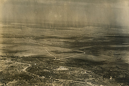 WWI Montfaucon-d'Argonne Aerial View France Photo Print