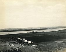 WWI Observation Balloons on Ground in France Photo Print for Sale