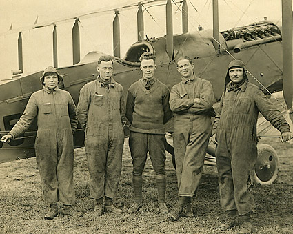 WWI Pilot and Crew 50th Aero Squadron Langley Field Photo Print