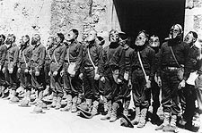 WWI U.S. Marines Wearing Gas Masks 1918 Photo Print for Sale