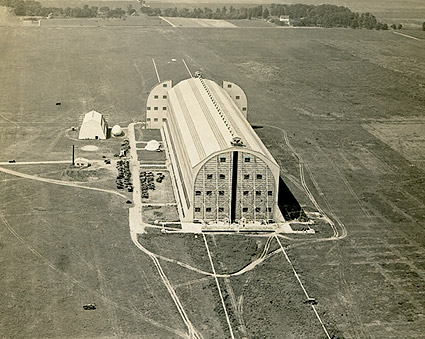 WWI Unidentified Airship Hangar 1918 Photo Print