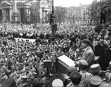 WWII Adolf Hitler Speech to Nazi Crowd Photo Print for Sale