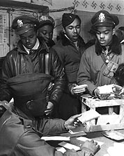 WWII Tuskegee Airmen Fighter Pilots Italy Photo Print for Sale