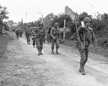 WWII American Infantry Soldiers In France Photo Print