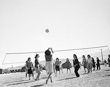 WWII Ansel Adams Manzanar Volleyball Game Photo Print for Sale