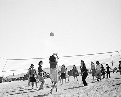 WWII Ansel Adams Manzanar Volleyball Game Photo Print