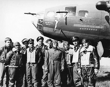WWII B-17 Memphis Belle & Crew US Air Force Photo Print