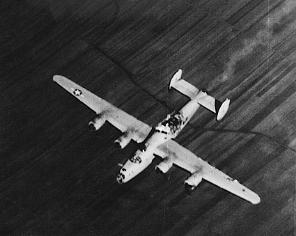 WWII B-24 Liberator Bomber Struck By Bomb Photo Print