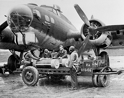 WWII Boeing B-17 Flying Fortress Ground Crew Photo Print