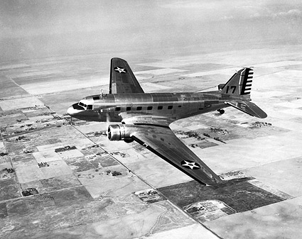 WWII Douglas C-39 Transport in Flight Photo Print