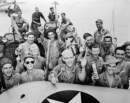 WWII Flight Crew Mechanics at Kelly Field Photo Print