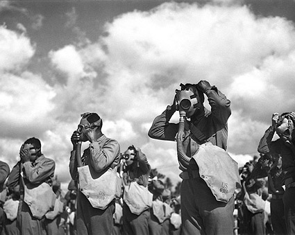 WWII Gas Mask Drill Fort Bragg Photo Print