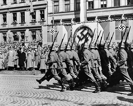 WWII German Nazi Soldiers Marching 1946 Photo Print
