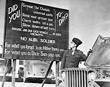 WWII Hitler Thanks You, Uncle Sam Pays You Photo Print for Sale