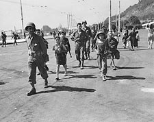 WWII Italian Children w/ American Soldiers Photo Print for Sale