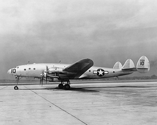 WWII Lockheed C-69 Constellation Aircraft Side View Photo Print