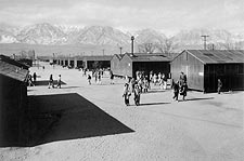 WWII Manzanar High School, Ansel Adams Photo Print for Sale