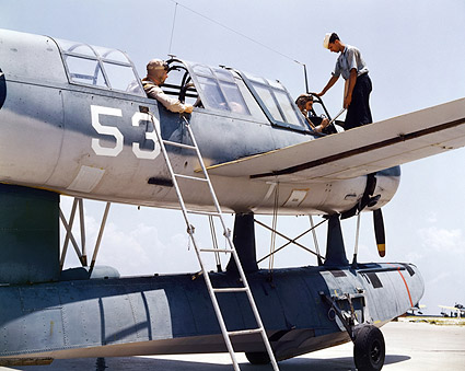 WWII Navy Aviation Cadets in Training Photo Print